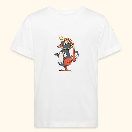 Frau Elster mit Tasche und Hut - Kinder Bio-T-Shirt
