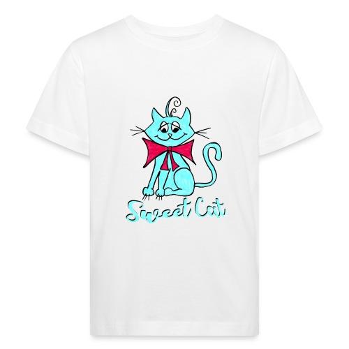 Niedliche kleine blaue Katze, Sweet! - Kinder Bio-T-Shirt