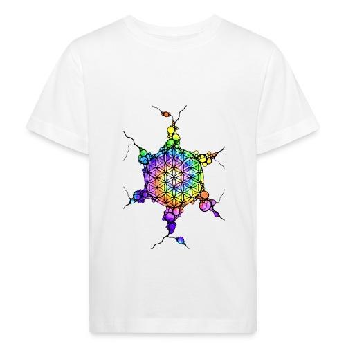 Flower Of Life Neuro Art 3 - Kinder Bio-T-Shirt