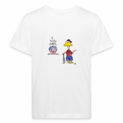 Cartoon Baseball - Kinder Bio-T-Shirt