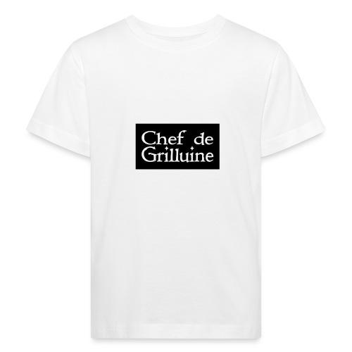 Chef de Grilluine - der Chef am Grill - Kinder Bio-T-Shirt