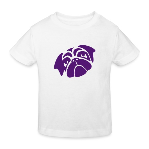 Mops mit schiefen Gesicht - Kinder Bio-T-Shirt