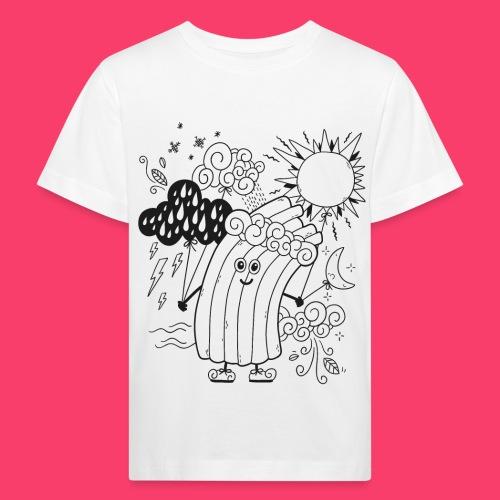 Rudi Regenbogen Wetter-Motiv zum Ausmalen - Kinder Bio-T-Shirt