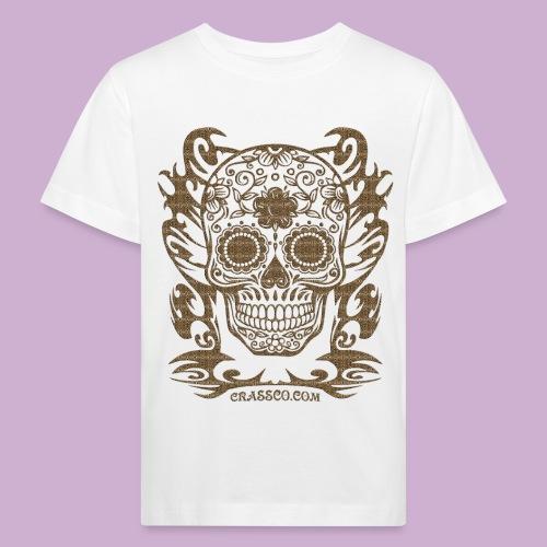SKULL FLOWERS LEO - Kinder Bio-T-Shirt