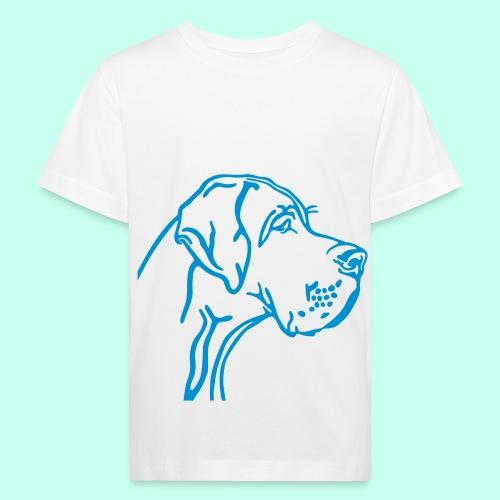 Große Dogge - Kinder Bio-T-Shirt