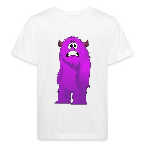 Lila Monster 10 - Kinder Bio-T-Shirt