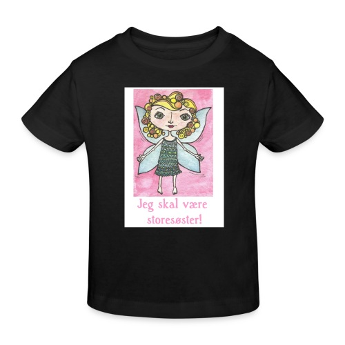 Jeg skal være storesøster Fairy - Organic børne shirt