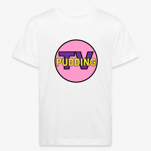 Pudding-TV Logo - Økologisk T-skjorte for barn