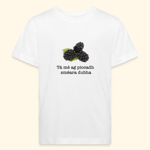 Picking blackberries - Kids' Organic T-Shirt