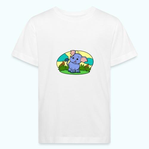 Tiny Elephant Art Collection - Kids' Organic T-Shirt