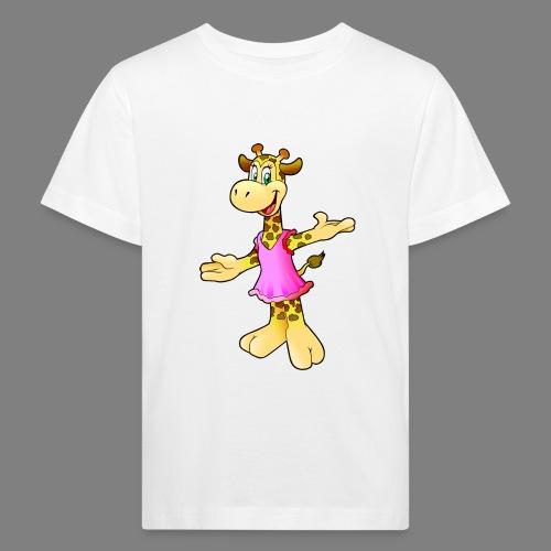 Cartoon Giraffe - Kinder Bio-T-Shirt