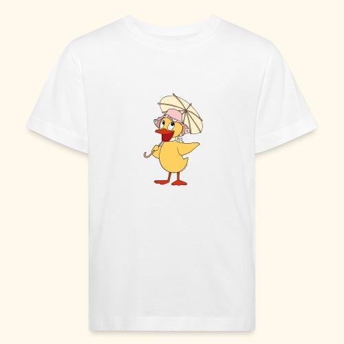 Schnatterinchen mit Schirm - Kinder Bio-T-Shirt