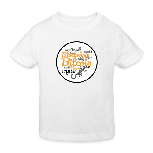 Bitcoin Tag Cloud - Kids' Organic T-Shirt
