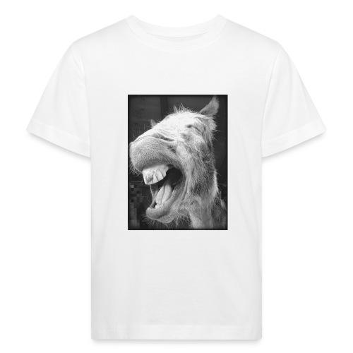 lachender Esel - Kinder Bio-T-Shirt