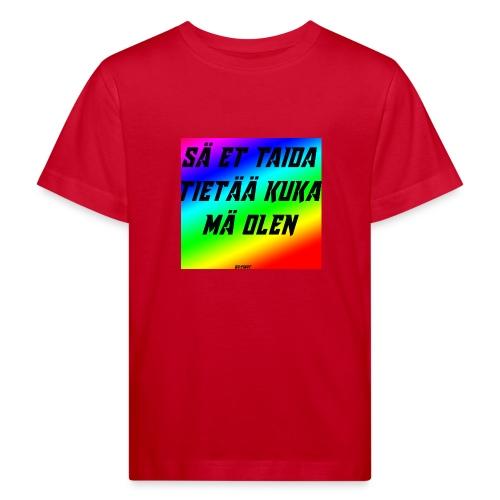 kuka olen - Lasten luonnonmukainen t-paita