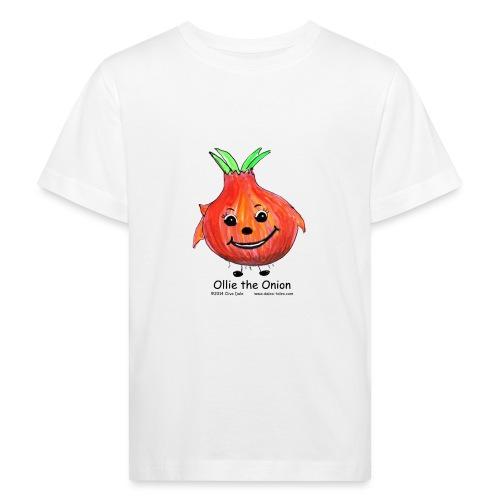 Ladies blue sweatshirt with a dicrete Ollie the On - Kids' Organic T-Shirt