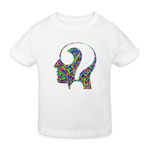 Fragender Kopf - Kinder Bio-T-Shirt