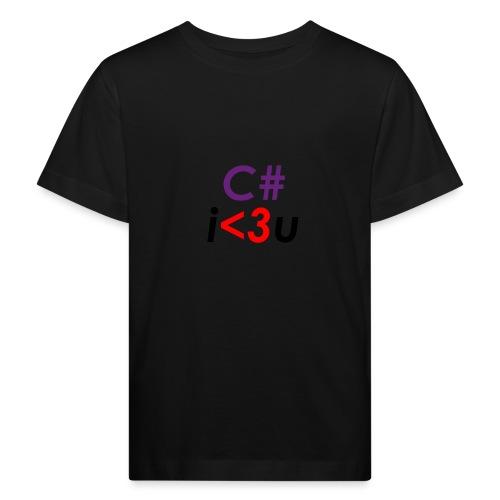 C# is love - Maglietta ecologica per bambini