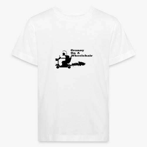 granny on a wheelchair - Kids' Organic T-Shirt