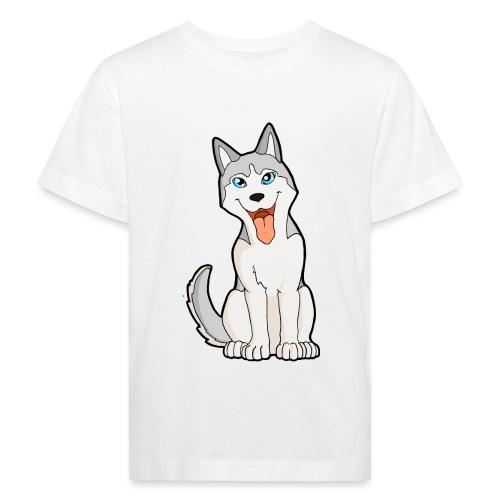 Husky grigio occhi azzurri - Maglietta ecologica per bambini