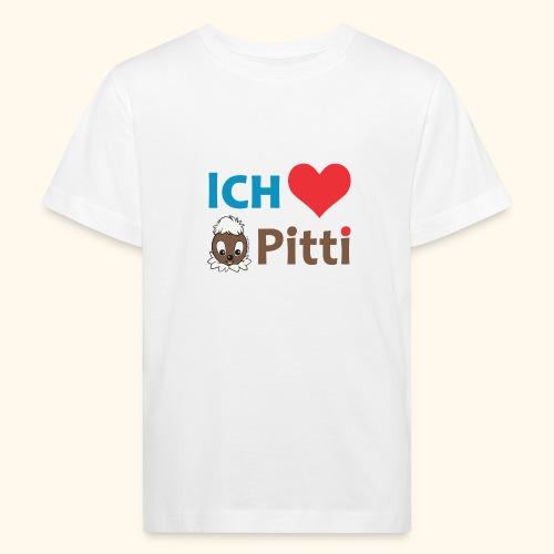 Pittiplatsch Ich liebe Pitti auf hell (blau/braun - Kinder Bio-T-Shirt