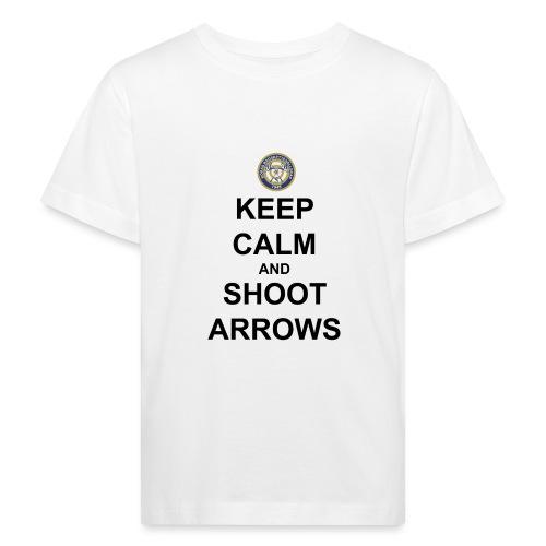 Keep Calm And Shoot Arrows - Svart Text - Ekologisk T-shirt barn