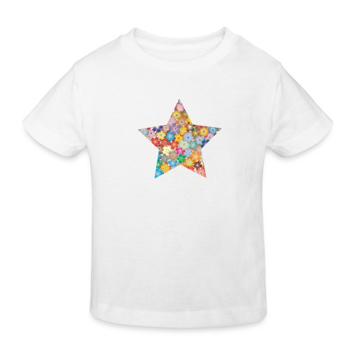 Blumenstern - Kinder Bio-T-Shirt