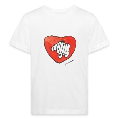 Janosch Tigerente Großes Rotes Herz - Kinder Bio-T-Shirt