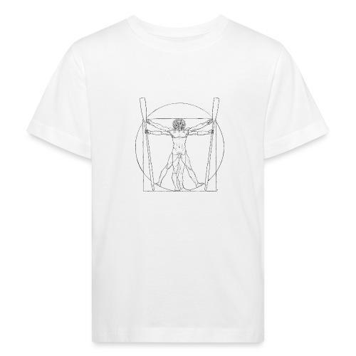 Vitruvian Skiffie black - Kids' Organic T-Shirt