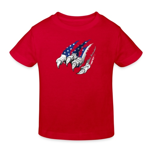 American Flag Claw - Kids' Organic T-Shirt