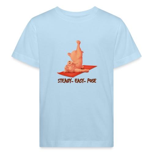 Schweindi-SteadyEasyPose - Kinder Bio-T-Shirt