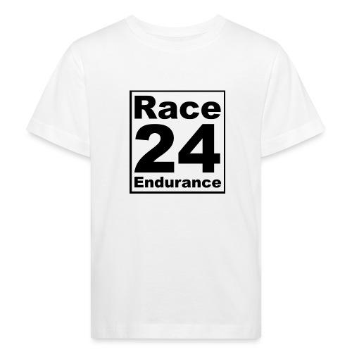 Race24 logo in black - Kids' Organic T-Shirt