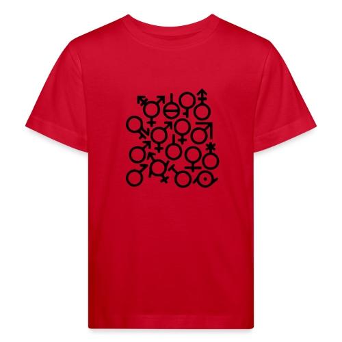 Multi Gender B/W - Kinderen Bio-T-shirt