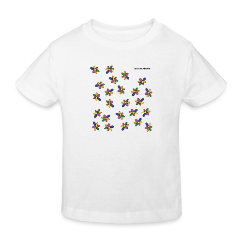 colour flower design tc - Kids' Organic T-Shirt