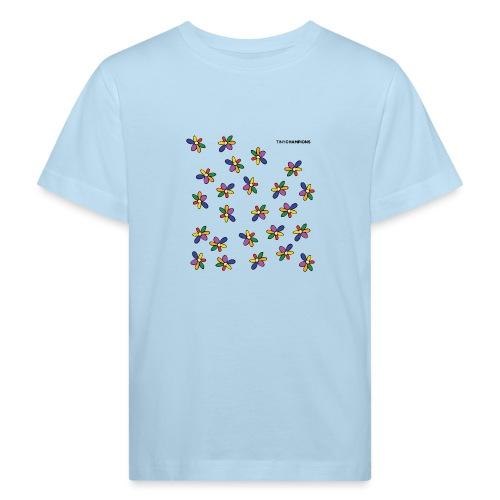 colour flower design tc - Kids' Organic T-Shirt