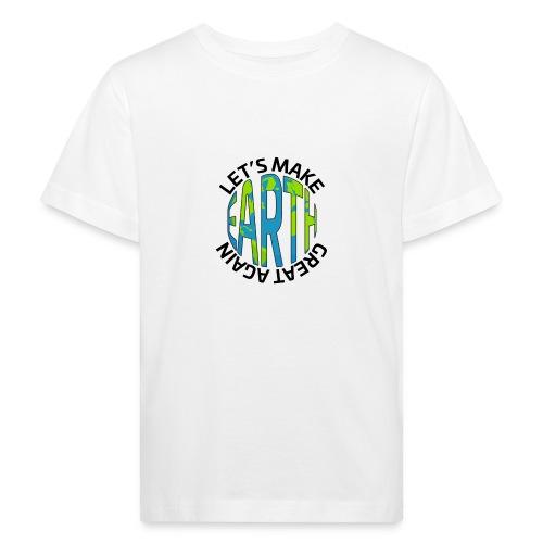 Let's Make Earth Great Again Square - Ekologisk T-shirt barn