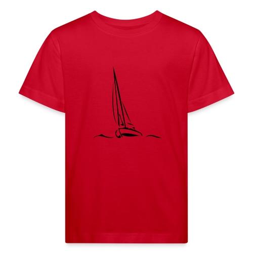 Segelboot - Kinder Bio-T-Shirt