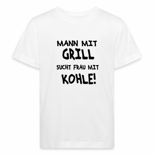 Mann mit Grill - Kinder Bio-T-Shirt