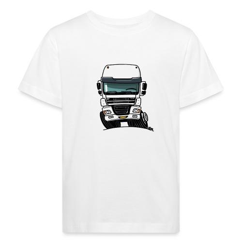 0810 D truck CF wit - Kinderen Bio-T-shirt