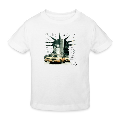 NYC - Lady liberty and the yellow cabs - Kinder Bio-T-Shirt