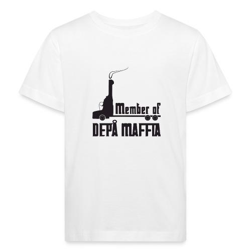 Depå Maffia svart tryck - Ekologisk T-shirt barn