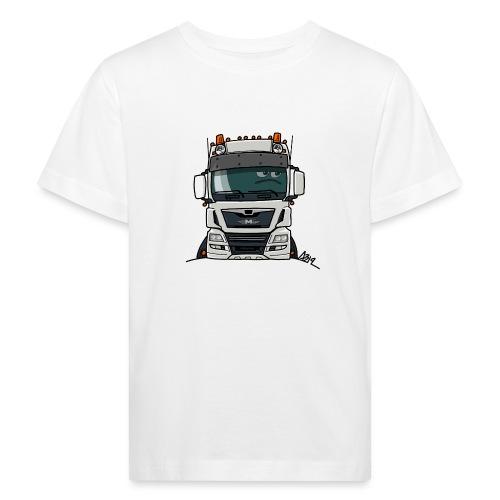 0819 M truck white - Kinderen Bio-T-shirt