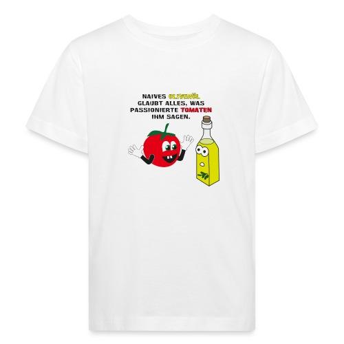 Tomate und Olivenöl - Kinder Bio-T-Shirt
