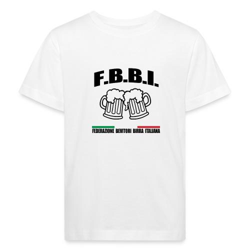 FBBI LOGO NERO - Maglietta ecologica per bambini