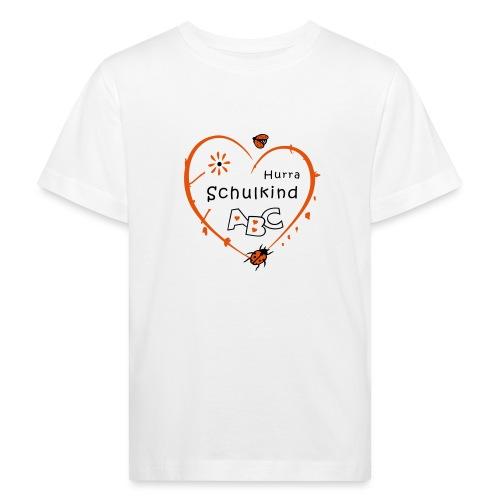 Schulkind, erstklassig, Schulanfang - Kinder Bio-T-Shirt