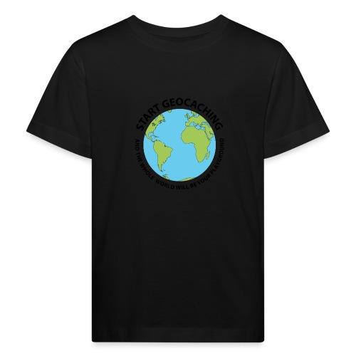 Start Geocaching - Lasten luonnonmukainen t-paita