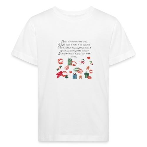Bonne resolution Noël Nouvel An - T-shirt bio Enfant