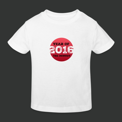 2016 year of the monkey - Kids' Organic T-Shirt