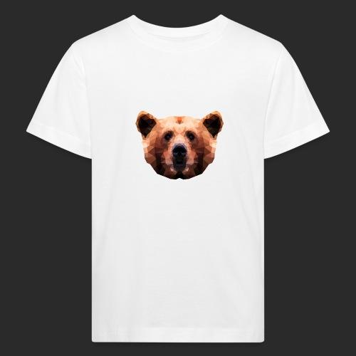 Low-Poly Bear - Kinder Bio-T-Shirt