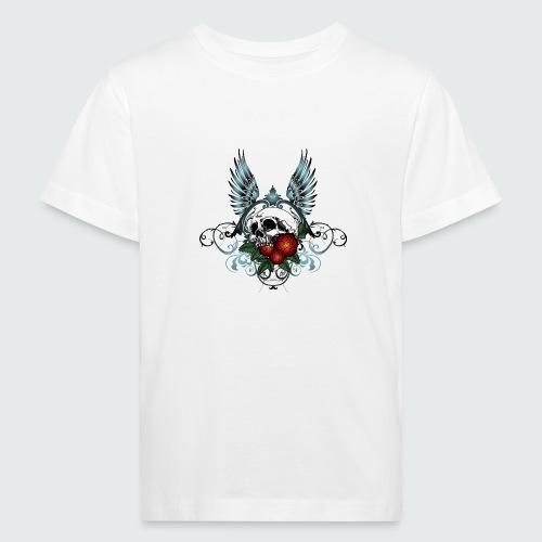 Skull Rose & Wing - Maglietta ecologica per bambini